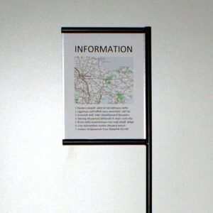 A4 skilt,A4 spyd,A4 tavle,informationstavle,naturtavle,infoskilt,flytbart A4 skilt,skiltespyd,lavprisskilt,vejviser,information,skov,strand,sti,kirkegård,billigt skilt